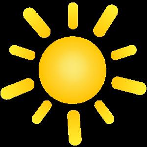 Sonnenstrahlzeichnung