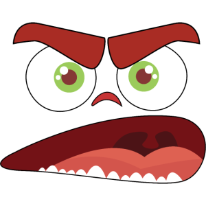 Lustiges Cartoon Gesicht