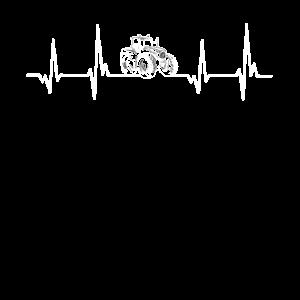 Herzschlag der Landwirte Bauern EKG Trecker Design