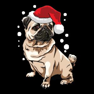 Weihnachts Mops für festliche Hundebesitzer