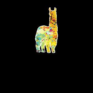 Lustiges Lama Alpaka bunt Tshirt