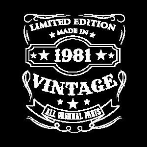 Vintage 1981 Geburtstag Geschenk Limited Edition
