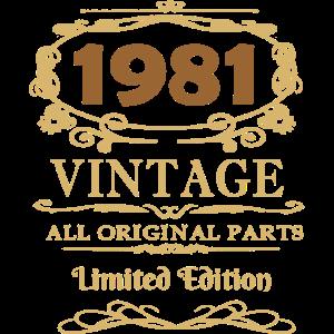 1981 Vintage Original Parts