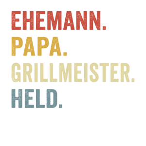Ehemann vater grillmeister held Vatertagsgeschenk