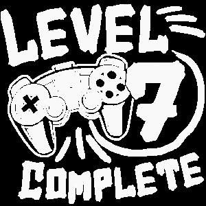7. Geburtstag Level 7 Complete 7 Jahre Gamer