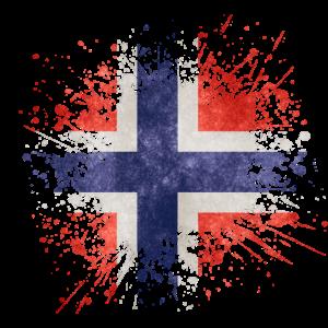 Norway - Splash - Flag - Norwegen - Flagge