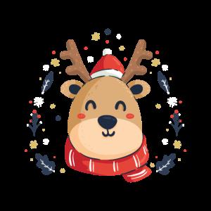 Weihnachten Baby Rentier Zeichnung