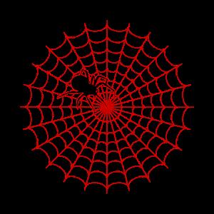 Spinne Spinnennetz rot Helloween