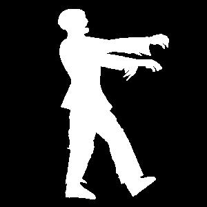 Zombie Silhouette Illustration Geschenkidee