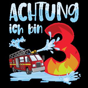3. Geburtstag Junge 3 Feuerwehrauto im Einsatz Ges