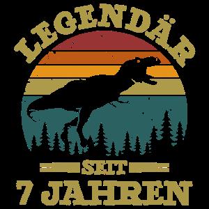Legendär seit 7 Jahren 7. Geburtstag Dino Geschenk