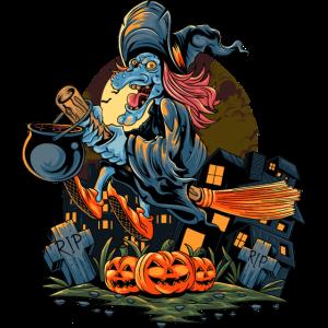 Halloween Hexenkürbis Patch