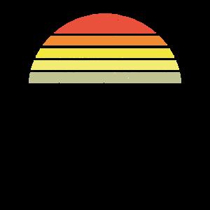 Sunset Halbkreis Retro