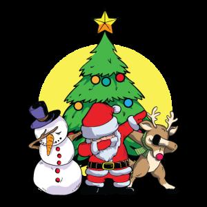 Dabbing Santa Elf Friends Christmas Xmas Gifts