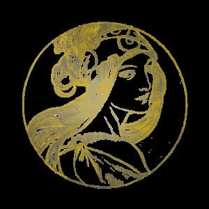 Jugendstil Ikone in Gold