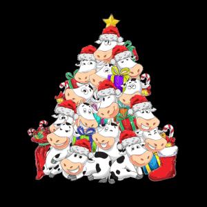 Kuh Weihnachten Weihnachtsbaum Weihnachtsmütze Lus