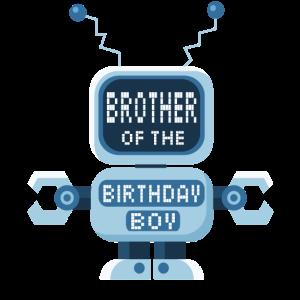 Bruder des Geburtstags-Jungen-Roboterliebhabers Bday