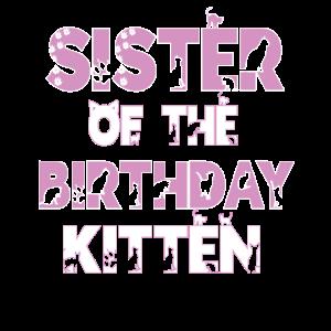 Schwester des Geburtstags Kätzchen Mädchen Katzenliebhaber