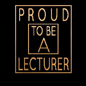 Stolz darauf, Dozent zu sein - Design für akademische Lehrer