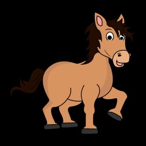 Pferd Pony braun Comic niedlich für Kinder Mädchen