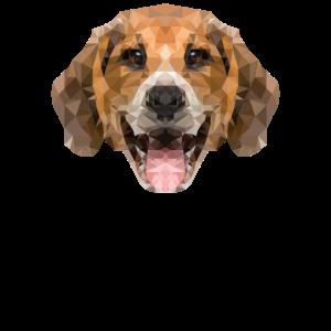 Hund Polygon feini Geschenk