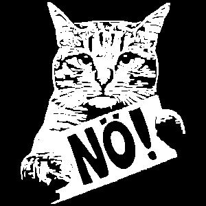 Freche Katze Nö Katzenbesitzer Katzenliebhaber