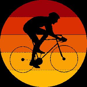 Rennradfahrer im Kreis