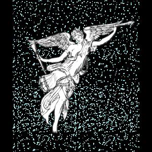 Schöner Engel Sternenhimmel