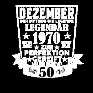 50. Geburtstag Dezember 1970 Geschenk Geschenkidee