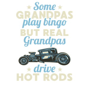 hot drod grandpCool Hot Rod Fahrer Opa