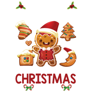 Weihnachten Backen und Filme schauen Geschenk