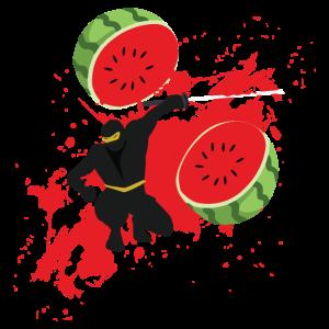 Ninja Melone Ninja Liebhaber Kämpfer Geschenkidee