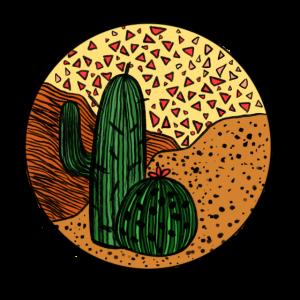 Kaktus Wüste Illustration Sommer Sonne