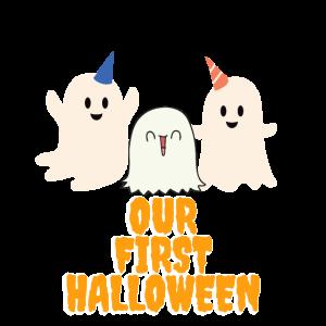 Unser erstes Halloween süßer Baby Geist englisch