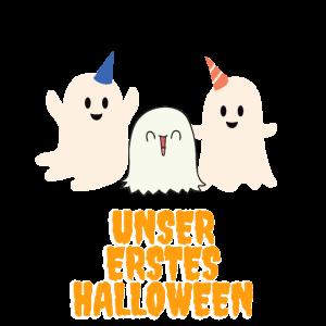 Unser erstes Halloween süßer Baby Geist