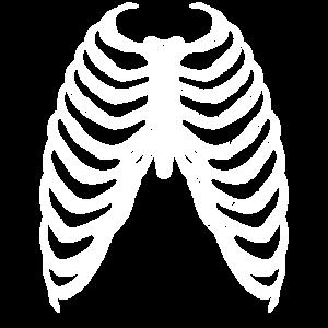Skelett Brustkorb Halloween, günstiges Kostüm