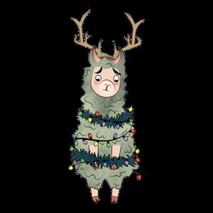 Alpaka Weihnachten