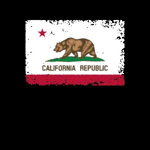 Kalifornien Fahne Flagge used-look