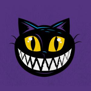 Schwarze Katze Maske Halloween Alice im Wunderland