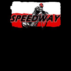 Speedway Fahrer (schwarz/rot) Polen