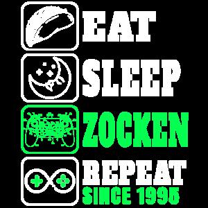 Gamer Geschenk - Eat Sleep Zocken Since 1995 zum
