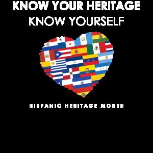 Kennen Sie sich Hispanic Heritage Month Grafik