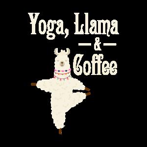 Yoga Lama Alpaka und Kaffee