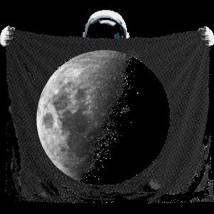 Astronaut Vollmond lustig außergewöhnlich