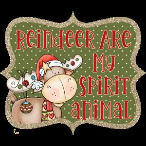 Rentier sind mein Geist Tier lustiges Weihnachtszitat