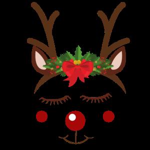 Rote Nase Rentier Weihnachten Geschenk