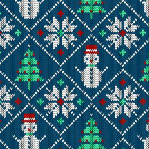 Weihnachtspullover Schneemann