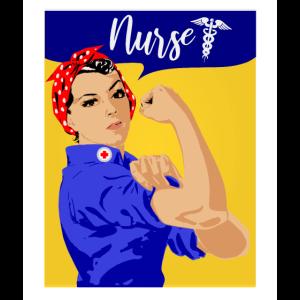 Krankenschwester Hals Gamasche Rosie der Riveter Hals Gator