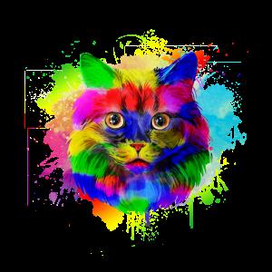 Katze in Wasserfarben Optik