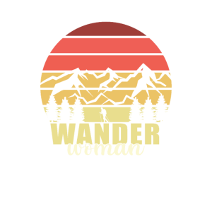 Wander Woman Damen Tshirt Wandern Frauen